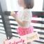 BabyCityเสื้อลูกไม้พร้อมกางเกงขาพองรุ่นโบว์สีชมพู thumbnail 6