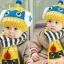 [ชมพูฟ้า] หมวกพร้อมผ้าพันคอไหมพรม หุ่นยนต์ไฟช๊อต thumbnail 8