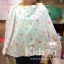 Grace kids ผ้าหลุมให้นมคอตตอนพิมพ์ลาย Breastfeeding Cover thumbnail 7