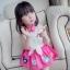 BabyCity ชุดเสื้อพริ้วไหวกระโปรงลายลูกเจี๊ยบ Pink thumbnail 10