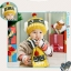 [ชมพูฟ้า] หมวกพร้อมผ้าพันคอไหมพรม หุ่นยนต์ไฟช๊อต thumbnail 5