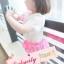 BabyCityเสื้อลูกไม้พร้อมกางเกงขาพองรุ่นโบว์สีชมพู thumbnail 4