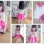 BabyCity ชุดเสื้อพริ้วไหวกระโปรงลายลูกเจี๊ยบ Pink thumbnail 2