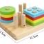 ของเล่นไม้สวมหลักเรขาคณิต Shape Column thumbnail 3